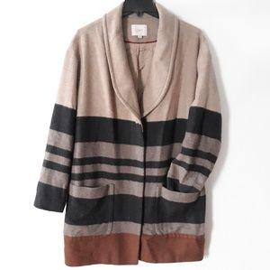 Ann Taylor loft striped coat size L